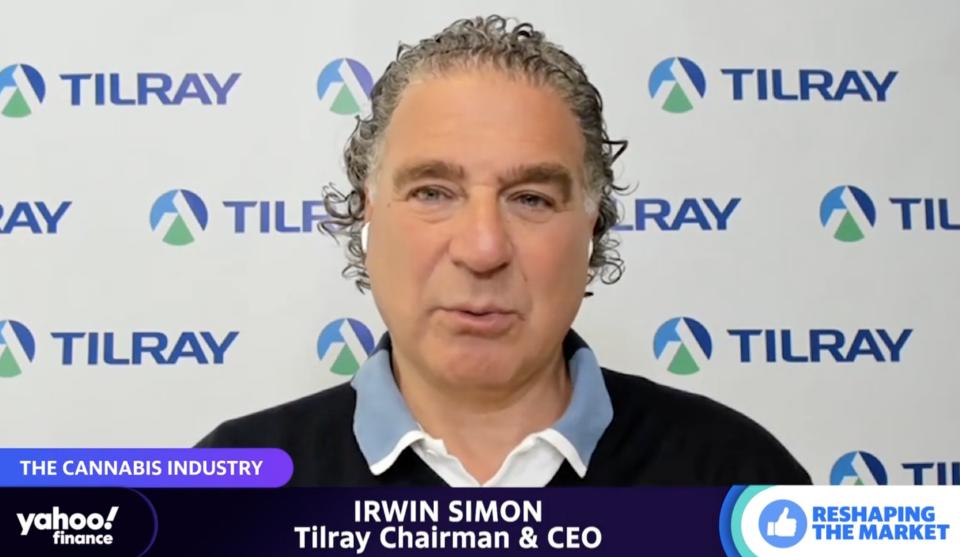 Tilray CEO Irwin Simon. (Yahoo Finance)